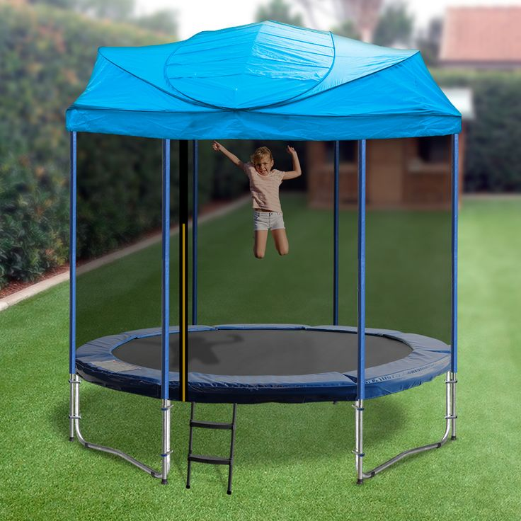 Enjoy your Oz Trampolines Trampoline all year around, with our uniquely designed 6 and 8ft Trampoline with roof.  Available in bright, fun colours this trampoline allows for enjoyment in most weather conditions; providing provide shelter and shade and ensures you enjoy a fun and enjoyable bouncing experience everyday.  *Please do not leave roofs installed in high winds or heavy rain.