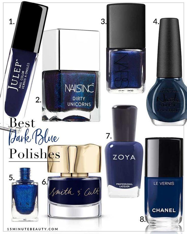 Best Black Nail Polish Reddit: Best 25+ Dark Blue Nails Ideas On Pinterest