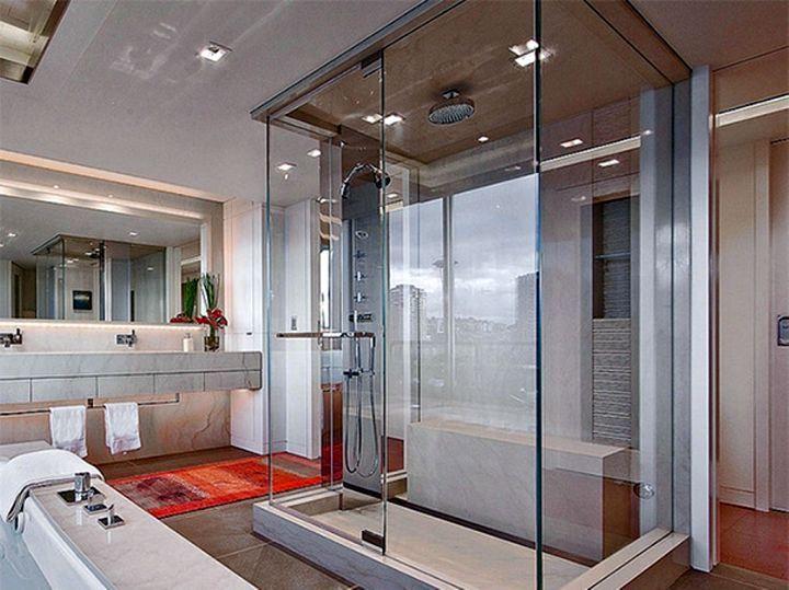 modern glass shower simple glass box