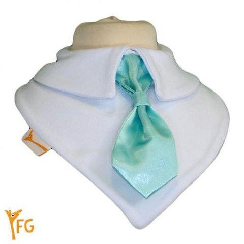 Baby Bandana Bib - Teal Smart Little Tie – Baby Luno