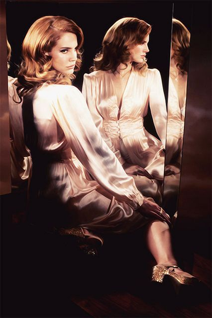 lana del rey in a boudoir gown