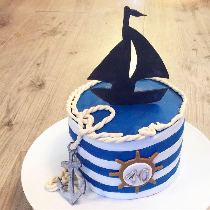 Torte maritim Fondant Geburtstag Mnnertorte  Meine Torten  Torten Geburtstag und Backideen