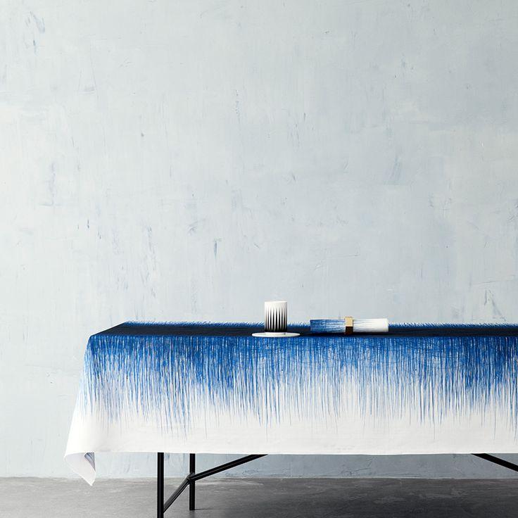ferm LIVING webshop - Pen Table Cloth - Blue