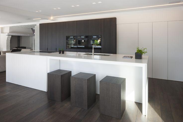 Fotografie voor ILB interieur van een modern keukenontwerp te Bouwel. © foto's Liesbet Goetschalckx