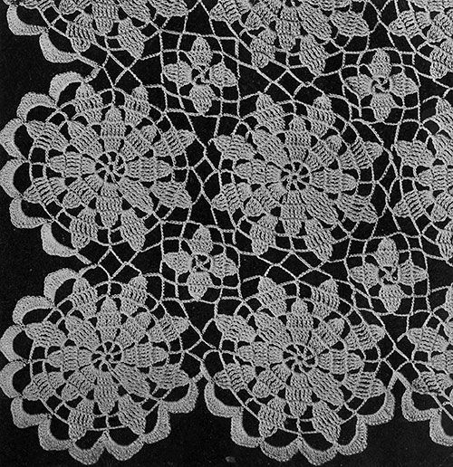Queen Anne's Lace Tablecloth Pattern #7050 | Free Crochet Patterns