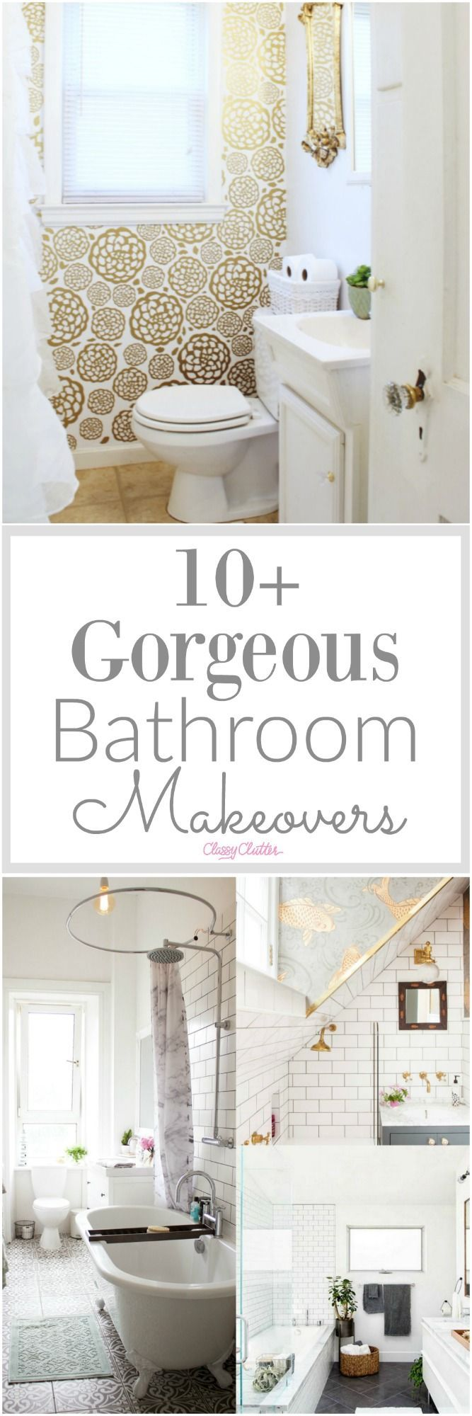 10 bathroom remodeling ideas in one picture - 10 Gorgeous Bathroom Makeovers Bathroom Makeoversbathroom Remodelingremodeling Ideasmakeover