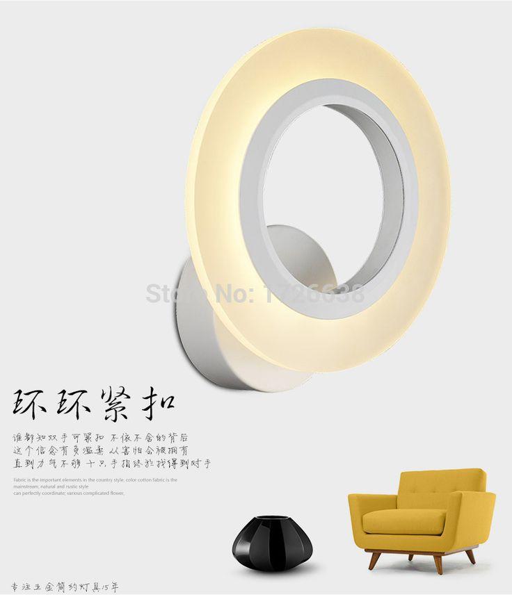 Современные акриловые настенный светильник круглой формы СВЕТОДИОДНЫЕ Светильники настенные светильники для Спальни коридор СВЕТОДИОДНЫЕ настенные светильники для дома спальня круг форма