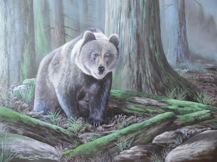 V lese akryl,plátno,60x70cm