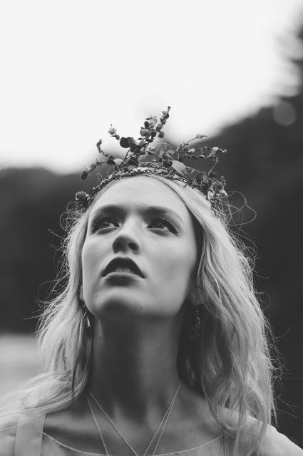 © Ayna O'Driscoll Photography, Styling/Couture/Crown: Alice Halliday, Jewellery: Colin Johnson. Boho Bridal Inspiration, Lady of the Lake, Mermaid Style, Boho Bride, Bridal Crown, beach wedding