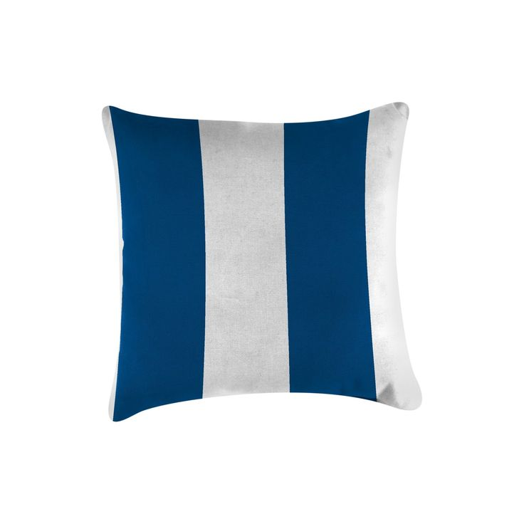 Jordan Set of Accessory Toss Pillows - Cabana Stripe Cobalt, Cabana Blue