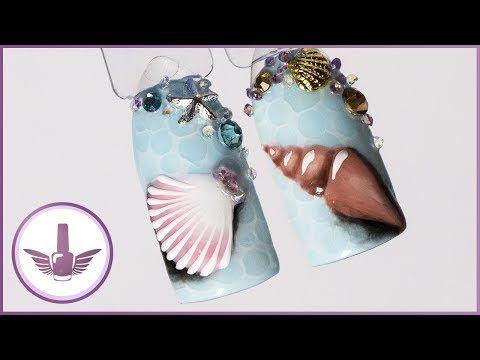 Дизайн Ногтей в Морском Стиле. Маникюр к Отпуску на Море. Морская Звезда на Ногтях - YouTube