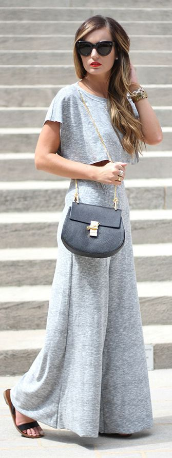 Grey On Grey Shopping Trendy Outfit Idea by For All Things Lovely