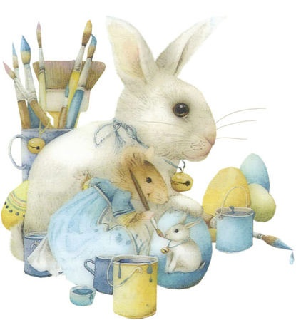 Marjolein Bastin ~ Vera paints - cute for Easter