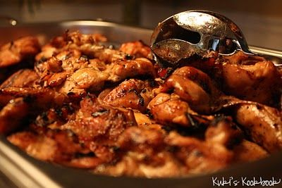 """Teriyaki Chicken- Hawaiian Style.."""".Our good friend Kalani cooks the best Hawaiian food so I bugged my husband to get the recipes from him. This recipe for teriyaki chicken is from Kalani and it's hands down my FAVORITE teriyaki chicken recipe, it's just so unbelievably good! Did I mention that I love this recipe?!?!"""""""