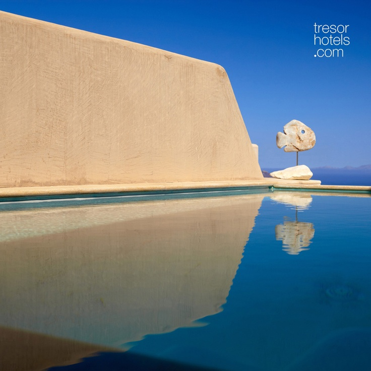Trésor Hotels and Resorts_Luxury Boutique Hotels_#Greece_ The perfectly preserved and unique medieval settlement of #Pyrgos in #Santorini is the location of this boutique treasure...With absolute respect towards the conservation of the village's traditions, Voreina Gallery #Suites maintains the bold architectural lines that have come to form the quintessential #Cycladic landscape. Quality and taste are clearly prioritized here.