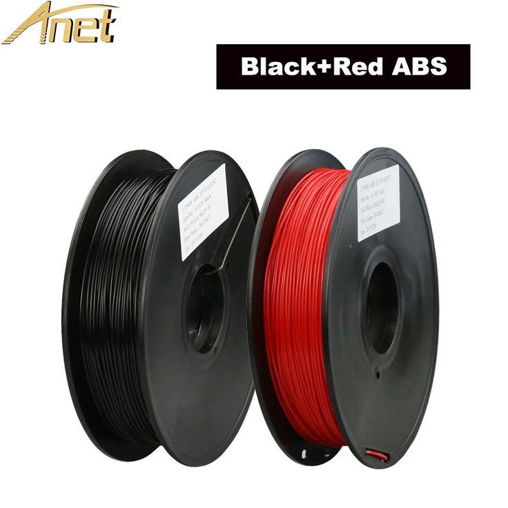 Новые поступления 2 Цвета Черный + Красный 3D Нити Принтера ABS 1.75 мм 0.5 кг/roll Totall 1 КГ пластиковые 3D Рисунок, Принтер Пера
