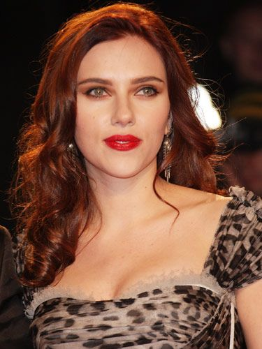 Scarlett Johansson...she's gorgeous with any hair color but I adore the red (not that I'm partial or anything lol)