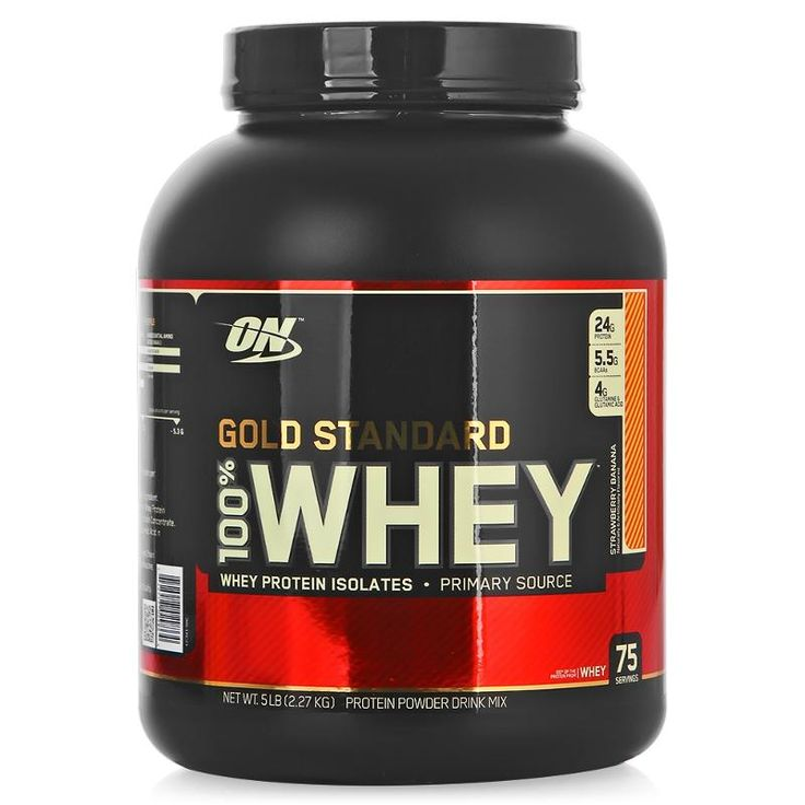 Протеин Optimum Nutrition 100% Whey Gold Standard (клубника-банан) 2270 г