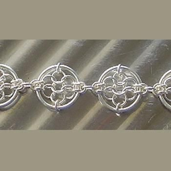 Chain Maille Patterns   Dreamcatcher Chain Maille Bracelet   JewelryLessons.com