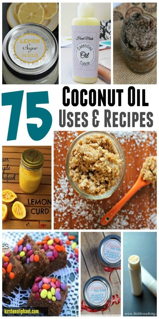 A huge compilation of reasons to use coconut oil and recipes to incorporate coconut oil in your daily living.