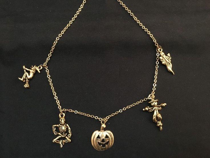 Halloween Necklace – Witch / Skeleton / Jack-O-Lantern / Scarecrow / Ghost (J-7) in Jewellery & Watches, Fashion Jewellery, Charms | eBay!
