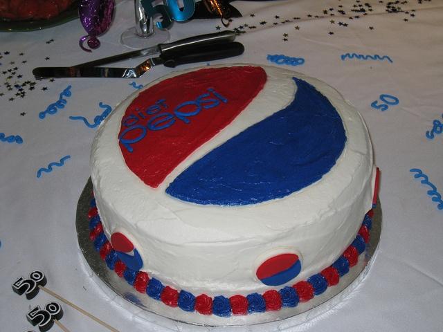 Diet Pepsi Cake - Someone needs to make me this for Jacob's birthday!  ;-)