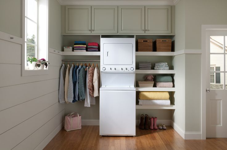 Stackable washer and dryer make great use of small spaces