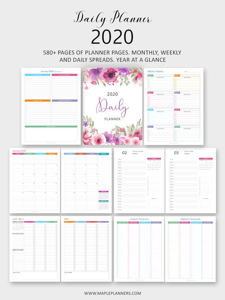 Daily Planner 2020 The Ultimate Planner Planner Pages Daily
