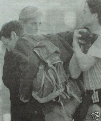 Easter Monday March 31 1997: Diana at her gym and passerby roughed up a photographer