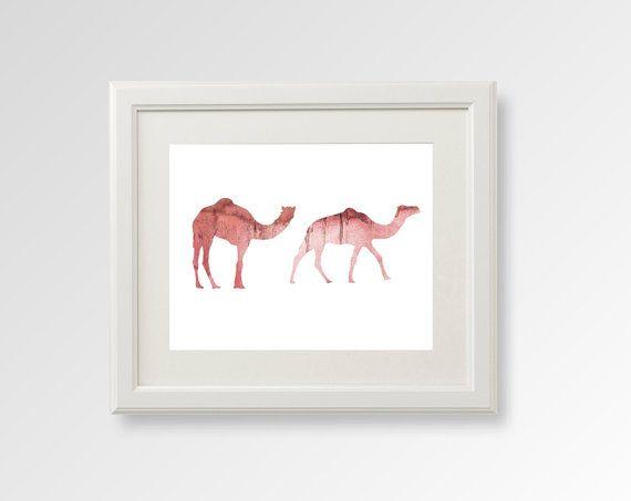 Camels Nursery Art Nursery Camels Prints Baby Camel by QPrints