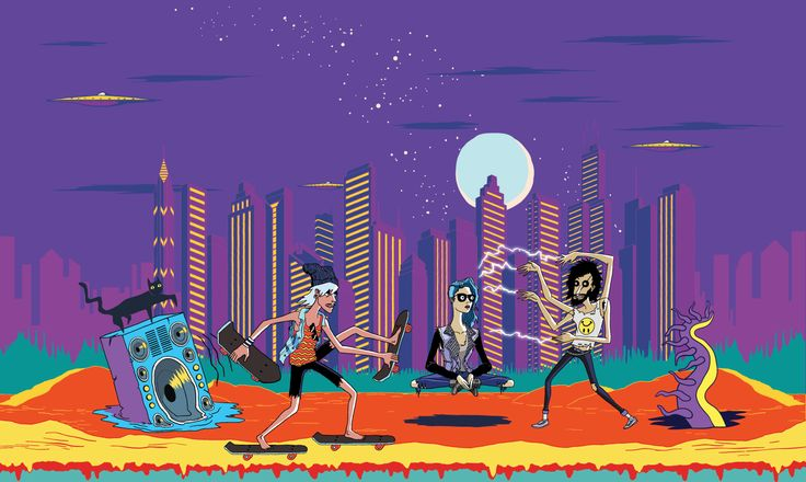 Lollapalooza website footer that makes a nice wallpaper