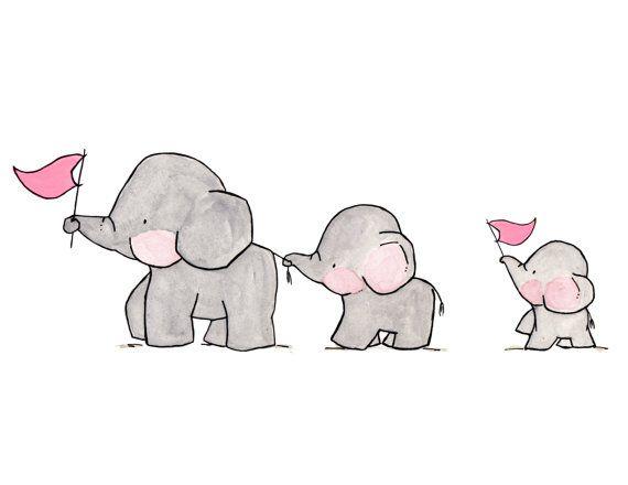 Elefanten auf Paradearchivalische Druck von ohhellodear auf Etsy