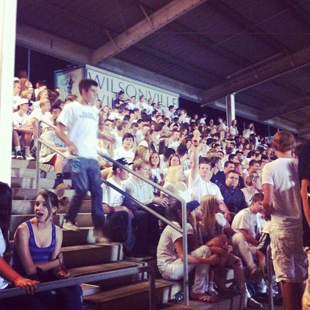 Go Wildcats! Wilsonville High School football games get the entire community together to root for the home team.