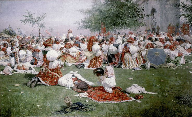 Pouť u svatého Antonínka (1894) Joža Uprka