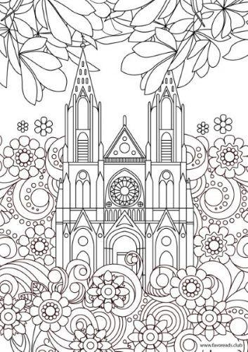 Creative Sights – Basilica coloring page