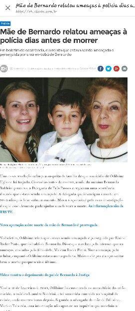 BERNARDO UGLIONE BOLDRINI - JUSTIÇA PARA TODOS OS ENVOLVIDOS - UM POUCO DA TRAJETÓRIA DE VIDA DO MENINO! PARTE2DE2