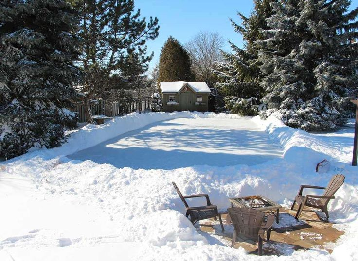 For Friends...a Backyard Ice Skating Rink. Great Way To Enjoy Time