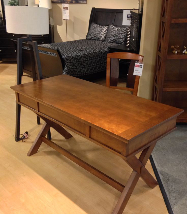 Beau Home Office Buy Burkesville. Burkesville Home Office Desk With The Warm  Burnished Brown Finish Flowing