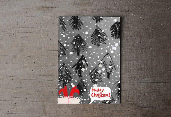 christmas card | christmass card set | illustrated christmas card