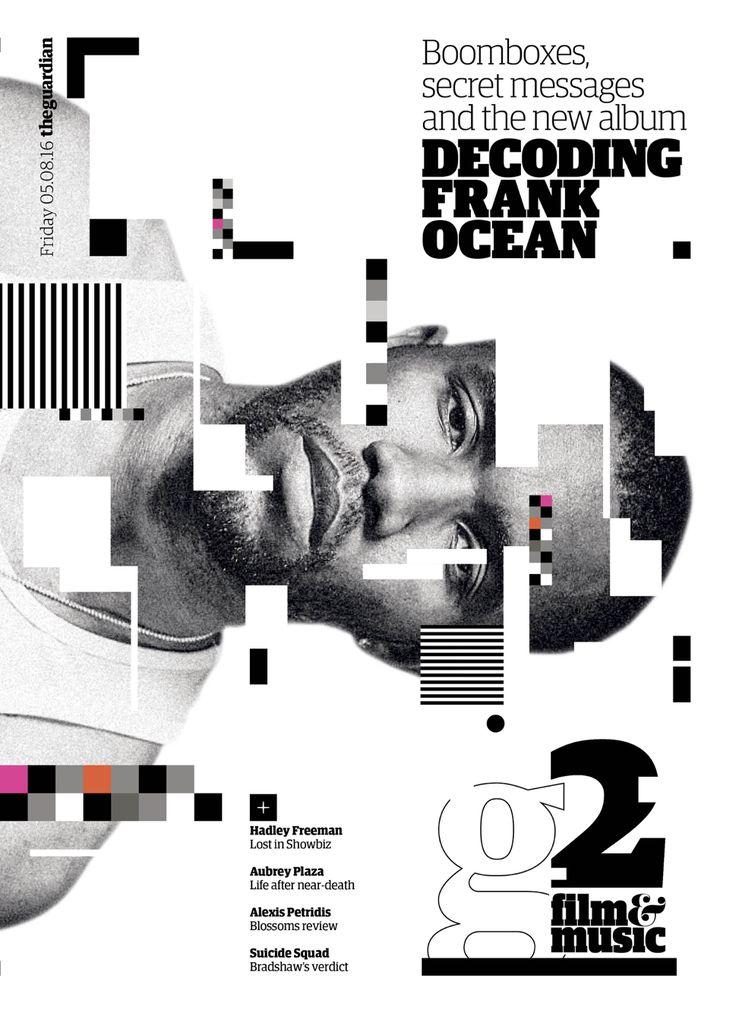 'Decoding #FrankOcean' - #guardian #cover #editorialdesign #graphicdesign #design #graphics #theguardian