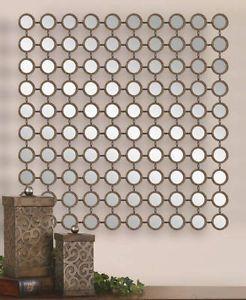 "Old World Venetian Style 40"" Mantel Foyer Small Round Mirrors Wall Decor"