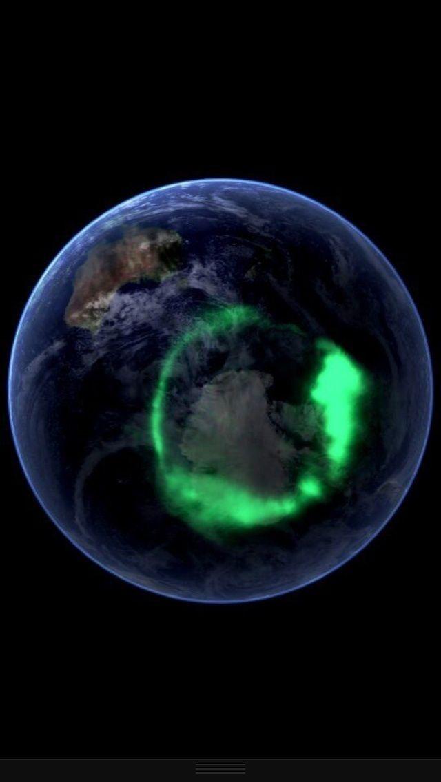 Aurora Lights seen from space. - Imgur