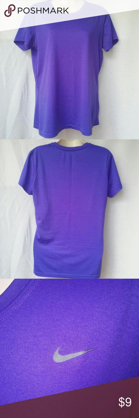 Nike Dri Fit Shirt Sz L Regular Fit Nike Dri Fit Shirt Sz L Regular Fit. Gently used in great condition, no snags or holes. (lighting is off in pics, the shirt is purple). Nike Tops Tees - Short Sleeve