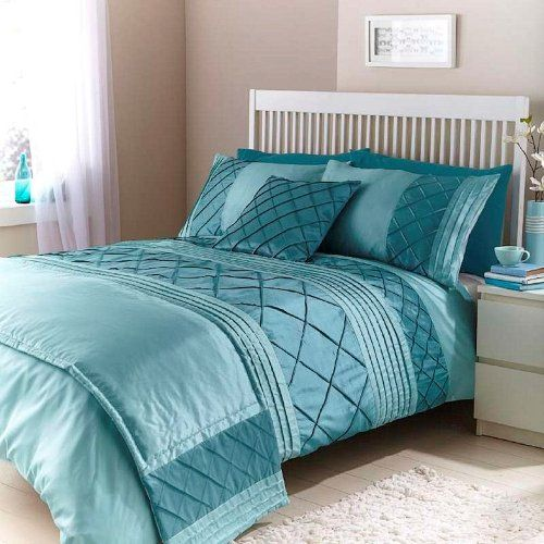 Cairo Duck Egg Teal Double Duvet Quilt Bedding Bed In A