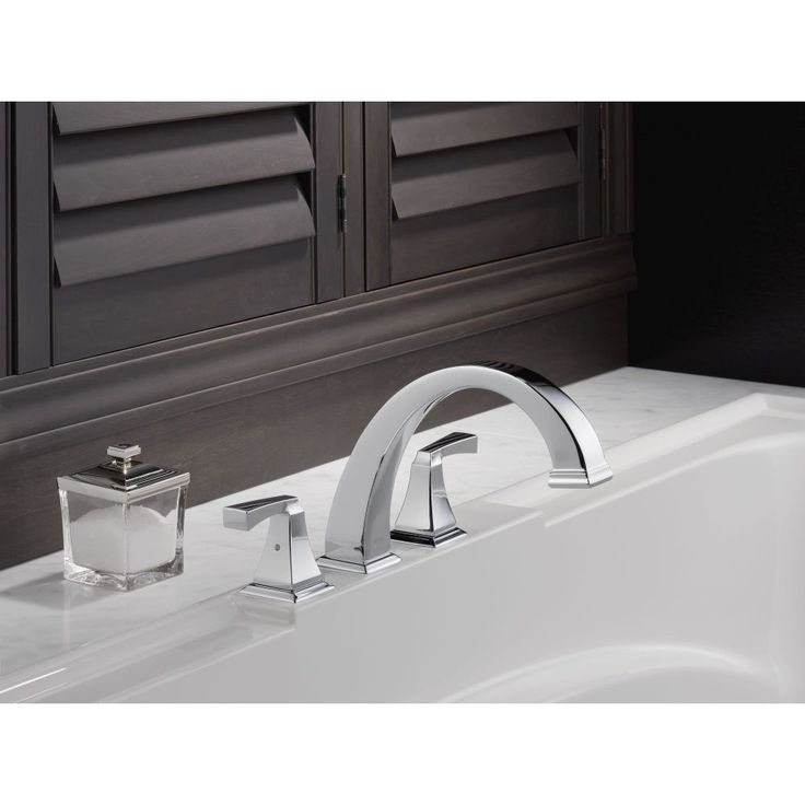 Delta, Dryden Deck Mount Roman Tub Faucet With Hand Shower Trim Kit Only In  Chrome (Valve Not Included), At The Home Depot   Tablet