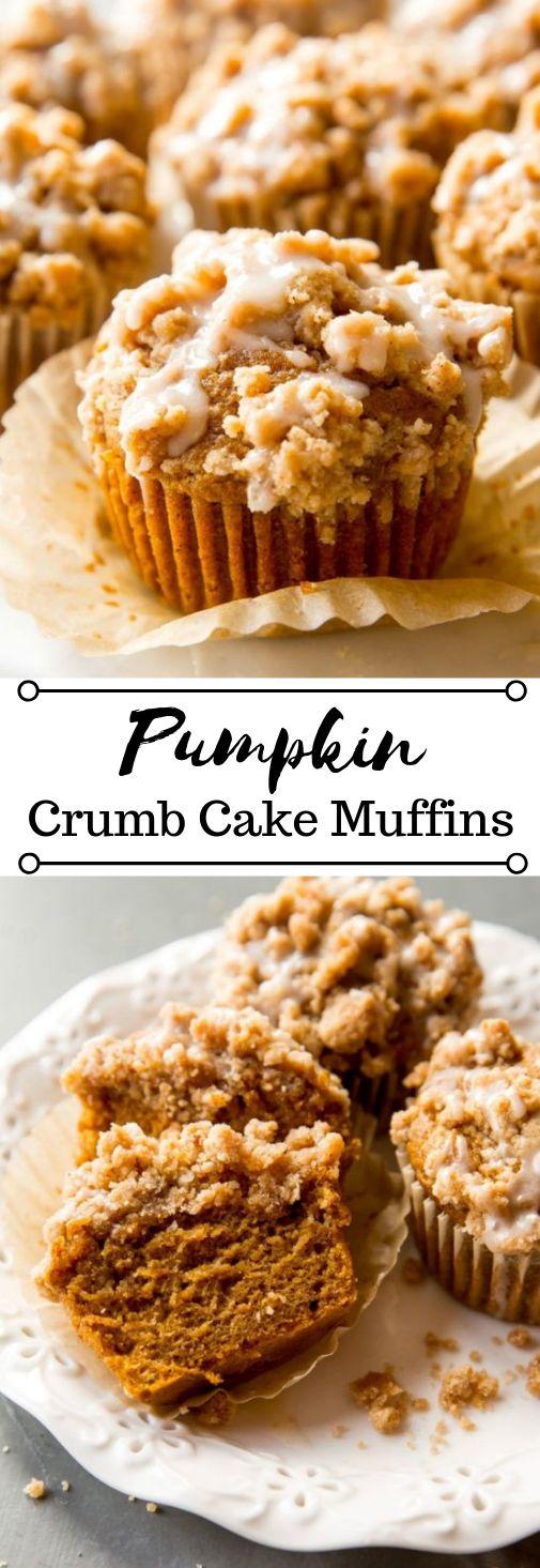 Pumpkin Crumb Cake Muffins #muffins #pumpkin #cake #desserts #yummy