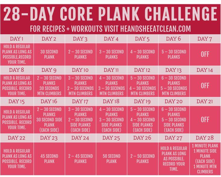 February Pucker Up Plank Challenge