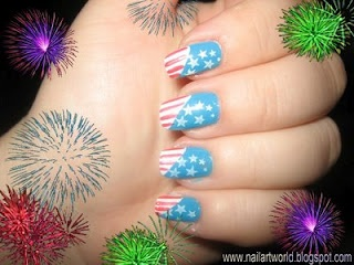 Nails Art Design: 4th of July ManicureJuly Manicures, Nails Treatments, Fourth Of July, Nail Art Designs, Red White Blue, 4Th Of July, Blue Manicures, Nails Art Design, Blue Nails