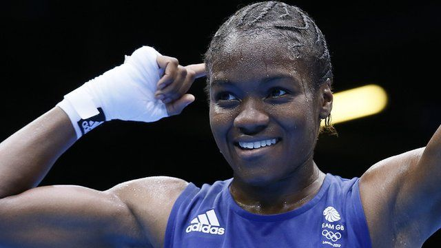 Great Britain's Nicola Adams made history by beating China's Ren Cancan to become the first woman to win an Olympic boxing gold medal.    Leeds fighter Adams produced a stunning performance to overcome the three-time world champion 16-7 in the final of the flyweight competition.