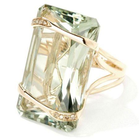 Prasiolite ring by Just Cavalli